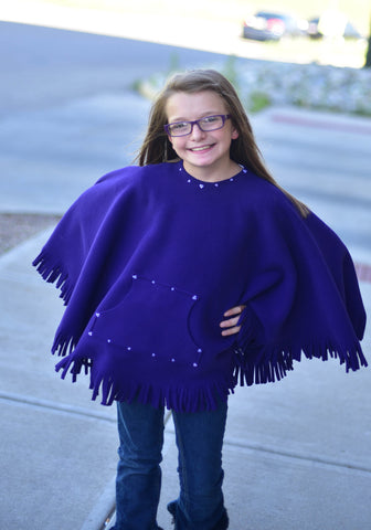 Kique: The Kids' Fringed Kique with Pocket (w/ Embellishment)