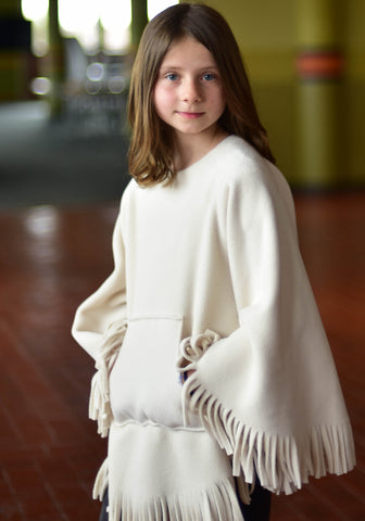 Kique: The Kids' Fringed Kique with Pocket