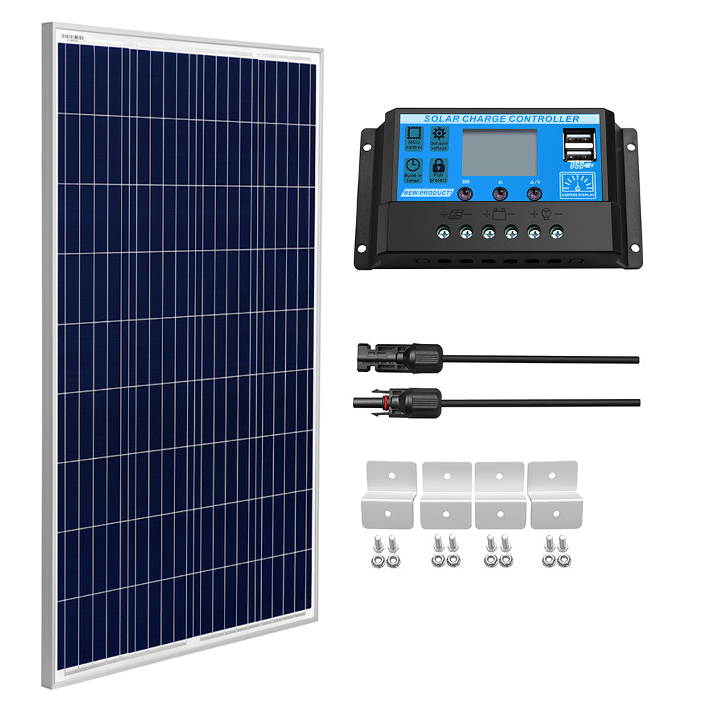 100W Polycrystalline Solar Panel Kit