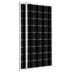 2 X 100 Watt Monocrystalline Solar Panel Kit 200W