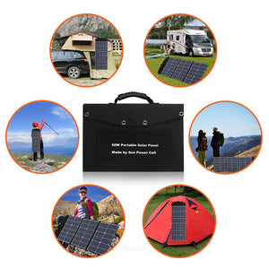 60W Portable Solar Panel SUNPOWER