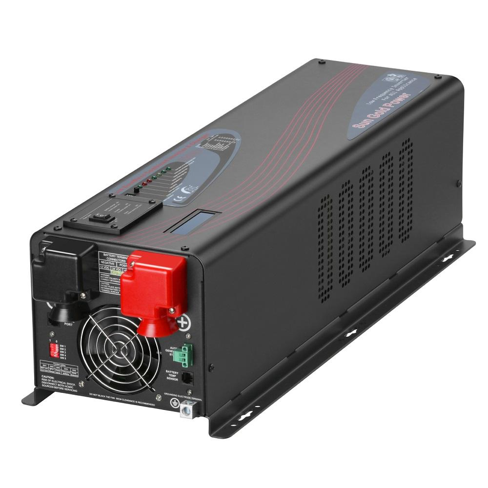 6000W DC 24V Split Phase Pure Sine Wave Inverter With Charger