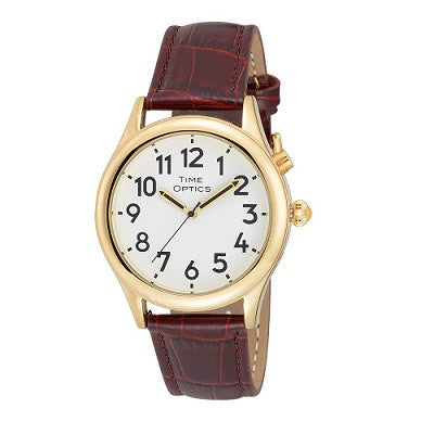 Watches - Mens' Talking Watch With Brown Leather Band