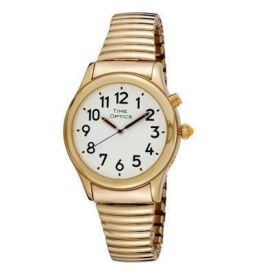 Watches - Men's Talking - Mens Gold 1-Button Talking Watch