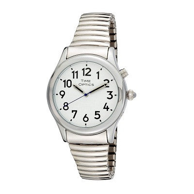 Watches - Men's Talking - Mens Silver 1 Button Talking Watch