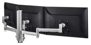 ATDEC AWM Triple monitor arm solution - 710mm & 130mm articulating arms - 400mm post - F Clamp - black