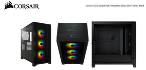 Corsair iCUE 4000X RGB Midi Tower Black