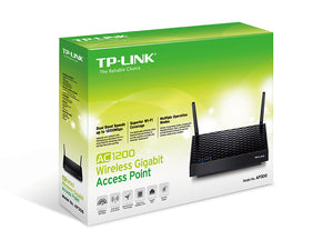 TP-LINK AC1200 Wireless Gigabit Access Point wireless router Gigabit Ethernet Dual-band (2.4 GHz / 5 GHz) Black