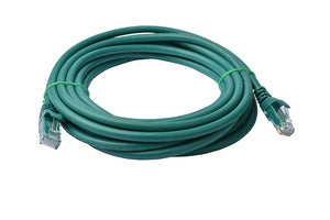 8WARE Cat 6a UTP Ethernet Cable, Snagless - 5m Green