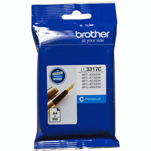 BROTHER LC3317C INK CARTRIDGE 550 PAGES CYAN