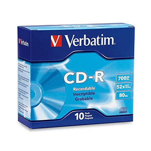 VERBATIM CD-R 700 MB 100PK WHITE WIDE INKJET 52X PRINTABLE SURFACE PACKAGING DAMAGED