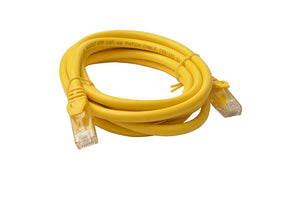 8WARE Cat 6a UTP Ethernet Cable, Snagless - 2m Yellow
