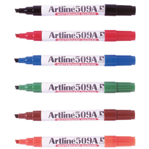 ARTLINE 509A WHITEBOARD MARKER 6 COLOUR ASST (PK12)