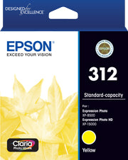 EPSON 312 Yellow Ink Claria Photo HD,  XP-8500, XP-15000