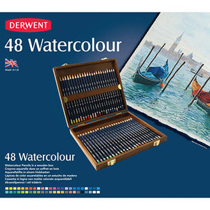 DERWENT WATERCOLOUR PENCILS WITH BOX PACK 48