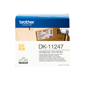 Brother DK-11247 label-making tape Black on white