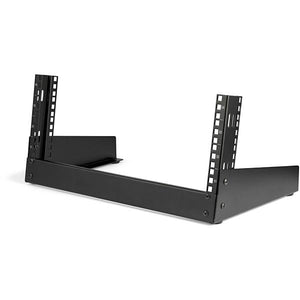 StarTech.com 4U 19 Desktop Open Frame Rack - 2 Post Free-Standing Network Rack Switch Depth for Patch Panel/Data/AV/IT/Communication/Studio/Computer Equipment 66lb Capacity w/Cage Nuts/Screws