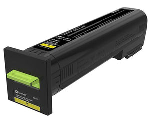 New Lexmark Yellow Extra High Yield Return Program Printer Toner Cartridge