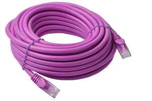 8WARE Cat6a UTP Ethernet Cable 10m Snagless Purple