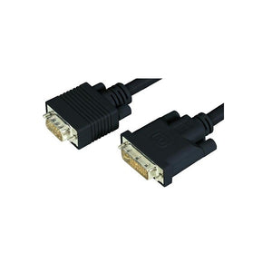Wicked Wired 2m DVI-A Male To HD15 15Pin Male VGA Video Adapter Cable