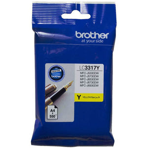 BROTHER LC3317 INK CARTRIDGE 550 PAGES YELLOW