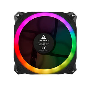 Antec Prizm 120mm ARGB Fan 3+2+C 3x RGB Dual Ring PWM FAN, 2 x LED Strip, and 1x RGB Fan Controller. 2 Yea