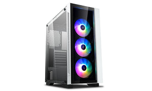 Deepcool MATREXX 55 V3 ADD-RGB WH 3F Tempered Glass Case, White Colour, Supports E-ATX MB W/ 3 Preinstalled A