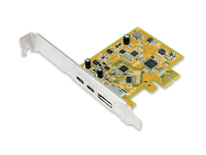 Sunix USB 3.1 10G & DisplayPort Alt-Mode PCI Express Host Card with Dual USB Type-C Receptacles