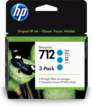 HP 712 Original Cyan 3 pc(s)
