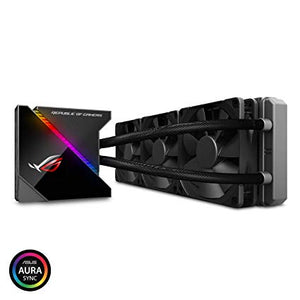 ASUS ROG Ryujin 360 All-In-One Liquid CPU Cooler, OLED, Aura Sync, Noctua iPPC 2K PWM 120mm Radiator Fan