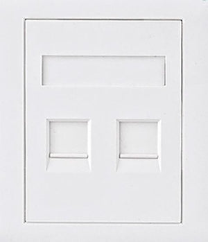 Astrotek CAT5e RJ45 Network Wall Face Plate 86x86mm 2 Port Socket Kit