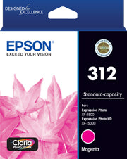 EPSON 312 Magenta Ink Claria Photo HD,  XP-8500, XP-15000