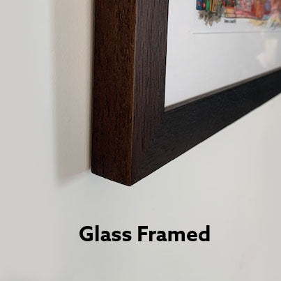 Glass Framed Art Side View