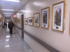 Corridors of St. Michael's Hospital Lined with David Crighton Art