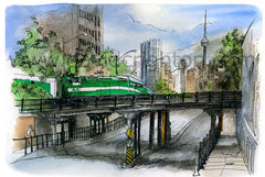 Go Train, Toronto by David Crighton