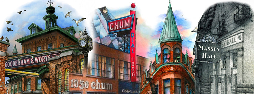 A sample of the beautiful artwork of Toronto Historic Landmarks by Local Artist David Crighton