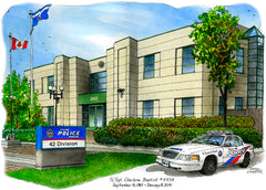 Toronto Police Services, 42 Division by Art Illustrator David Crighton