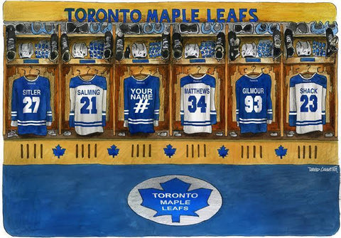 maple leaf hockey locker room