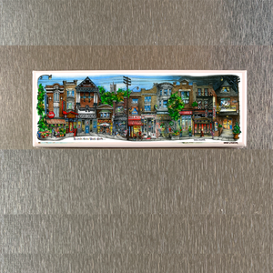 Roncesvalles Avenue Toronto Fridge Magnet - David Crighton