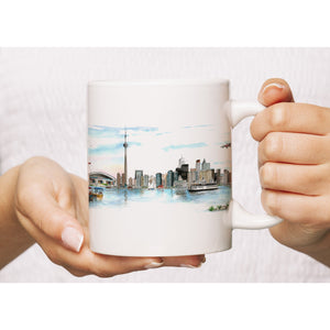Toronto Skyline Art Coffee Mug
