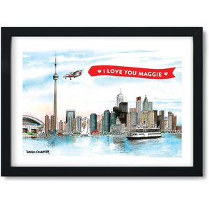 Custom Toronto Skyline Mini Frame Personalization Offer