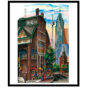 St. Lawrence Market Toronto Canvas Framed Wall Art