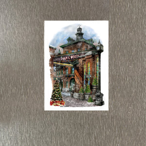 Distillery District Toronto Christmas Magnet
