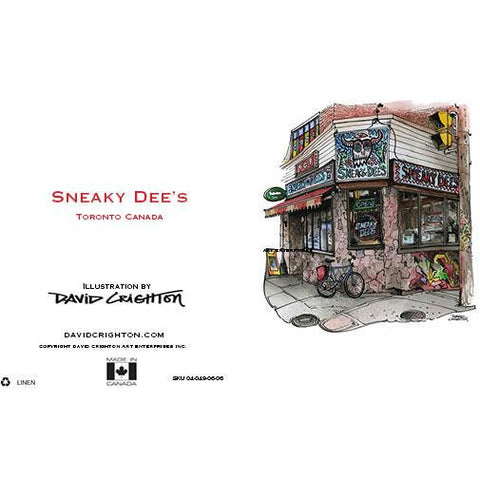 Sneaky Dee's Card by David Crighton