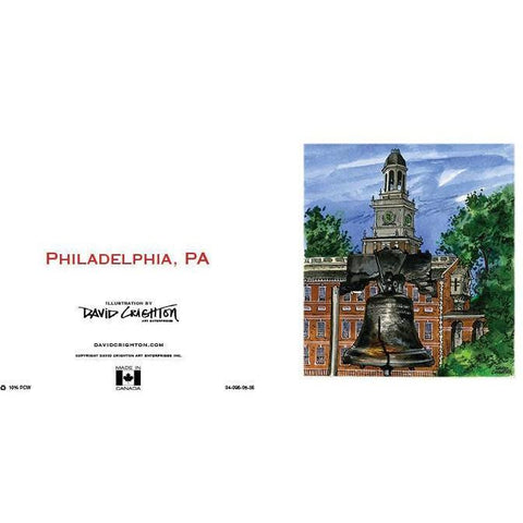 Philadelphia, PA, USA Card  by David Crighton