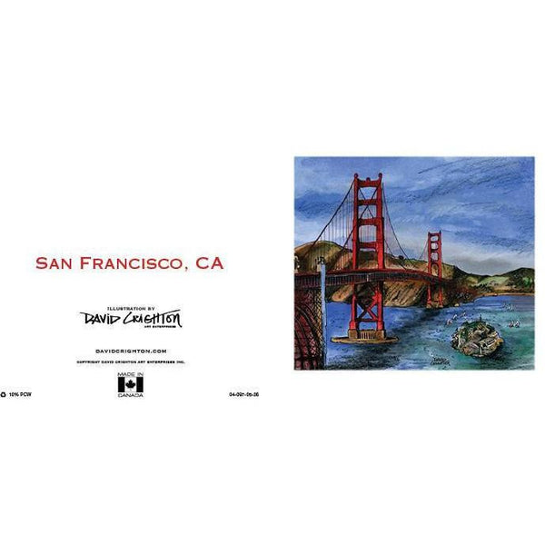 San Francisco, CA Card by David Crighton