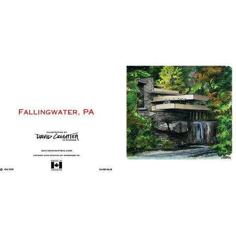 Fallingwater, PA, USA Card  by David Crighton