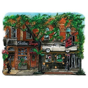 Cadillac Lounge Card by David Crighton