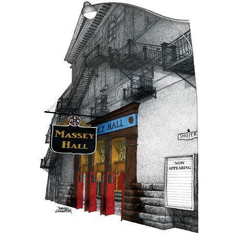 Post Card - Massey Hall Card by David Crighton