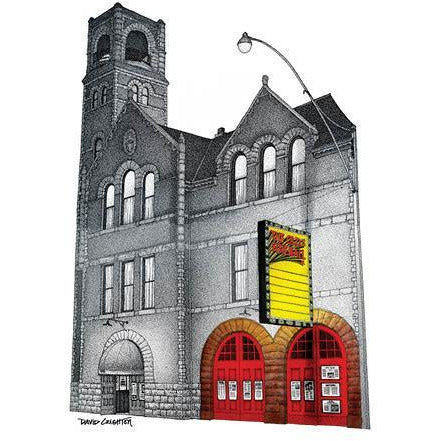 Old Fire Hall Card by David Crighton